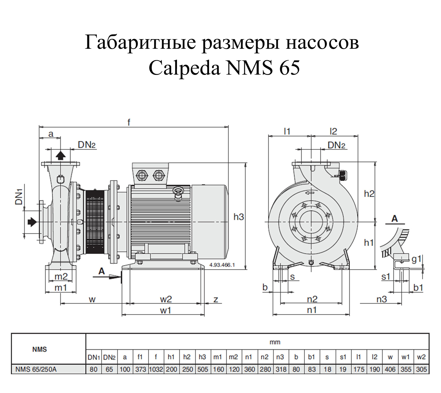 ����� ������������� Calpeda NMS 65/250A (60T01801000)