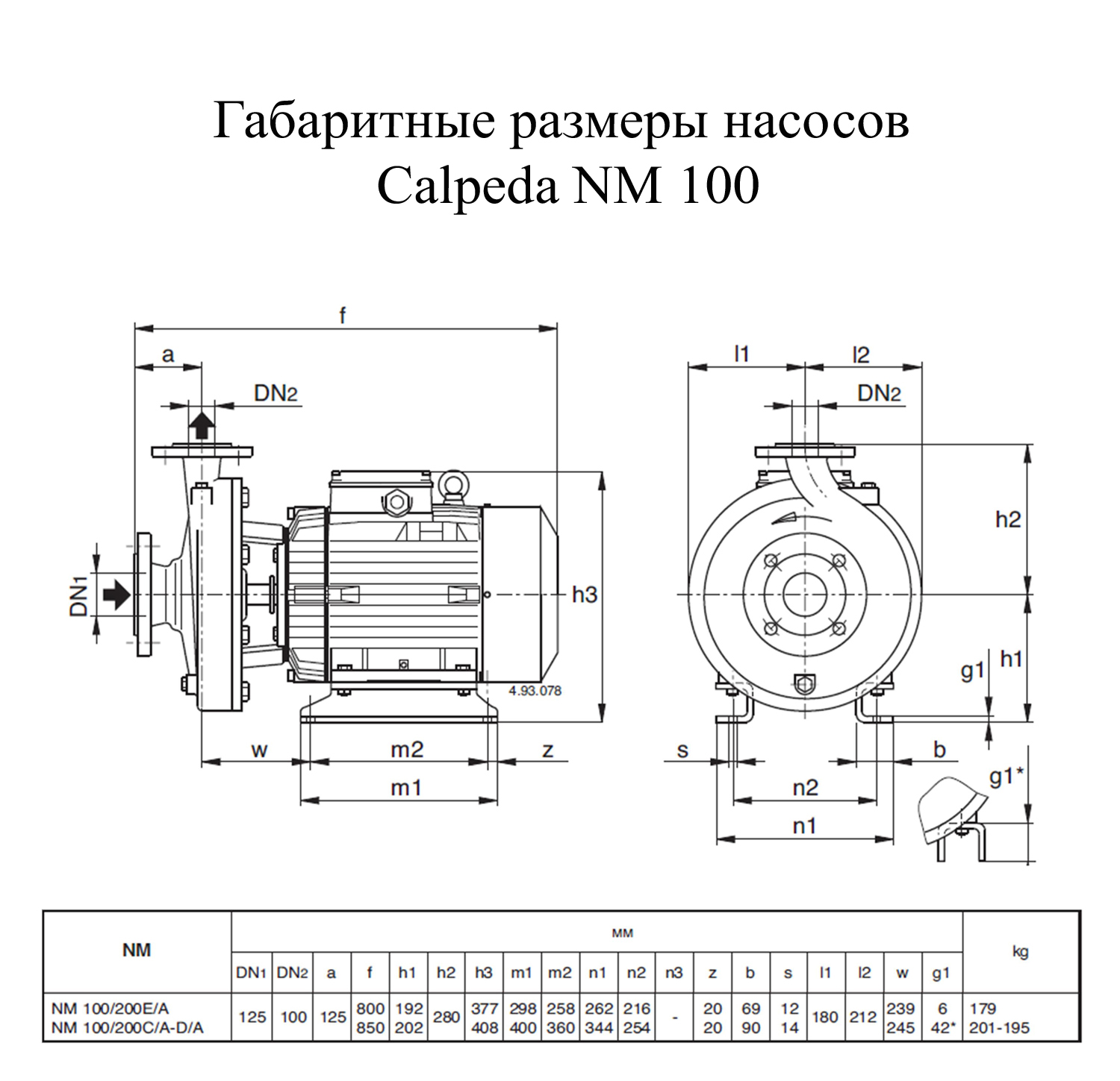 ����� ������������� Calpeda NM 100/200E/A