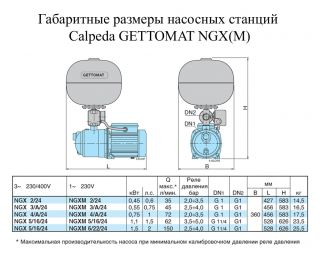 Насосная станция Calpeda GETTO-MAT NGX 4/A/24 (80400520000)