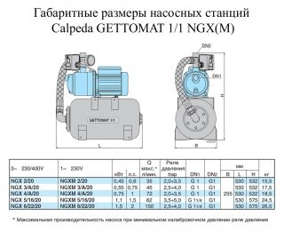 Насосная станция Calpeda GETTO-MAT 1/1 NGX 5/16/20