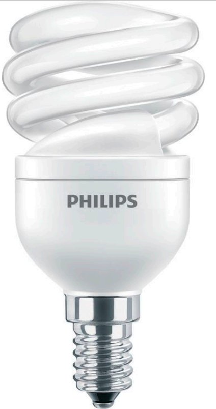 ����� ����������������� Philips Econ Twister 12W CDL E14 220-240V