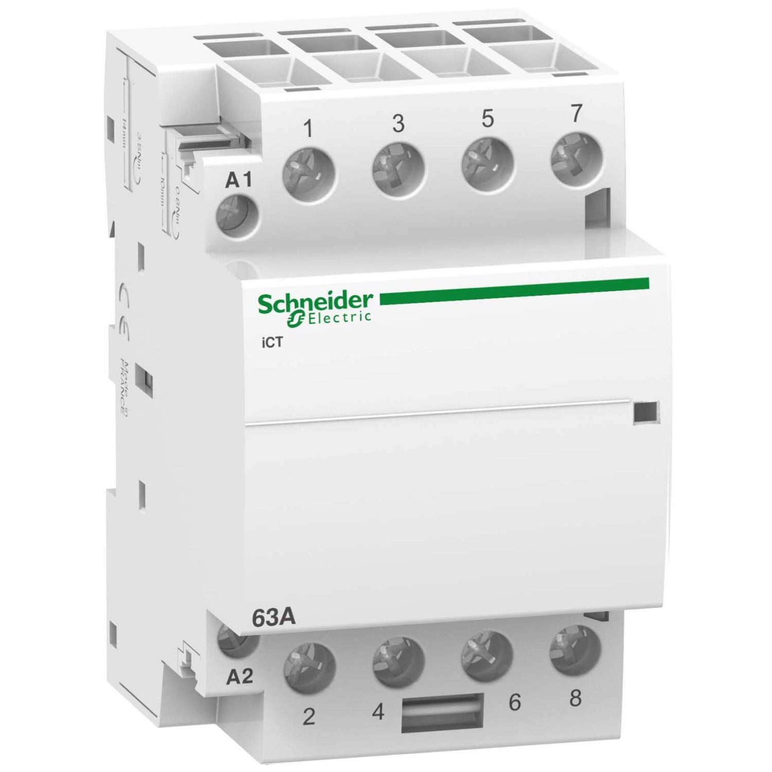Контактор Schneider Electric iCT Acti9 63A 4Н.O 230 V A9C20864 №1